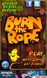 Burn the Rope Android Main menu (Free-to-play version)