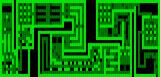 One Hundred and One Monochrome Mazes DOS One of the medium difficulty mazes