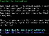 Psychiatric Evaluation Browser Start of the game
