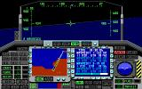F-117A Nighthawk Stealth Fighter 2.0 DOS Viewing of waypoints (EGA)