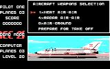 ACE 2 DOS Select Weapon (CGA Original)
