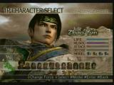 Dynasty Warriors 5: Xtreme Legends PlayStation 2 Character selection screen.