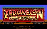 Indiana Jones and The Last Crusade: The Graphic Adventure DOS Title Screen (EGA)