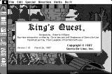 King's Quest Macintosh About King's Quest