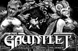 Gauntlet Macintosh Title screen (B&W)