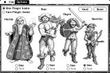 Gauntlet Macintosh Choose your character (B&W)