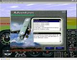 Global Sorties Windows This is how the new adventures look in <i>Microsoft Flight Simulator 95's</i> Adventure Library. This is one of the adventures that is not compatible with a specific scenery package.