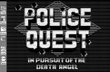 Police Quest: In Pursuit of the Death Angel Macintosh Title screen