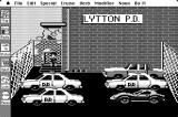Police Quest: In Pursuit of the Death Angel Macintosh Police station parking lot