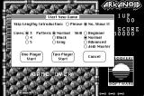 Arkanoid Macintosh Start a new game