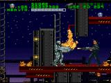 RoboCop Versus the Terminator SNES At the top of the construction site, Robocop faces his much anticipated battle against the Governator