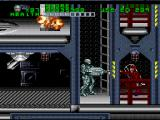 RoboCop Versus the Terminator SNES Robocop fights his way through the OCP robotics factory, past haywire security turrets and uncooperative OCP security troopers