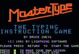 MasterType Apple II Title screen