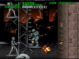 RoboCop Versus the Terminator SNES The long climb up the exterior of SKYNET's fortress is tough, as a single shot can knock you off and send you plummeting all the way back down
