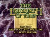 The Labyrinth of Time DOS Title Screen