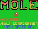 Mole MSX A fancy title screen