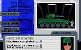 Battle Command DOS Mission Selection & Status (VGA 256 color)