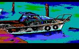 Manhunter 2: San Francisco DOS A motorboat