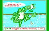 Frogger II: ThreeeDeep! PC Booter Title screen (CGA with RGB monitor)