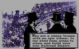Railroad Empire DOS Introduction screen (CGA)