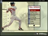 Microsoft Baseball 2001 Windows Main Menu (Trial version)