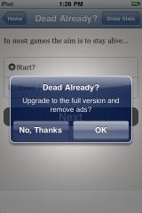"Dead Already? iPhone The revenue model for this ""free"" game reveals itself!"