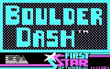 Super Boulder Dash PC Booter Boulder Dash I: title screen (CGA)