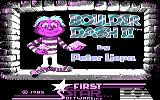 Super Boulder Dash PC Booter Boulder Dash II: title screen (CGA)