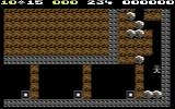 Boulder Dash II: Rockford's Revenge Commodore 64 Gameplay on the first level