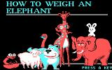 How to Weigh an Elephant DOS this game's title screen