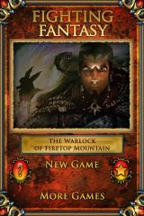 Fighting Fantasy: The Warlock of Firetop Mountain iPhone Start menu