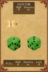 Fighting Fantasy: Citadel of Chaos iPhone I roll to hit...