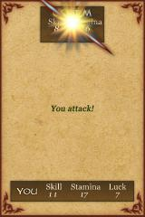 Fighting Fantasy: Citadel of Chaos iPhone I won that round!