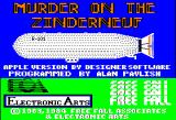 Murder on the Zinderneuf Apple II Title screen