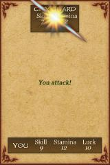 Fighting Fantasy: City of Thieves iPhone I landed a hit!