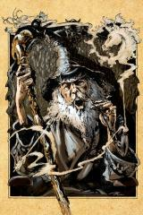 Fighting Fantasy: City of Thieves iPhone The friendly wizard Nicodemus, our in-town destination.