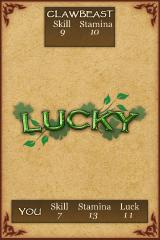 Fighting Fantasy: Creature of Havoc iPhone I successfully passed a LUCK check.