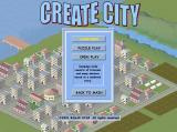 Create City Windows This screen menu shows the three kinds of game