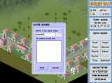 Create City Windows This shows the save game menu screen. The load game screen is identical apart from the word SAVE is replaced by LOAD