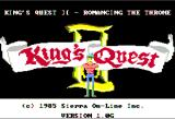 King's Quest II: Romancing the Throne Apple II Title