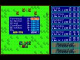 Record of Lodoss War: Haiiro no Majo FM Towns Battle in a grassy area. Individual commands