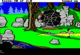King's Quest III: To Heir is Human Apple II Cave is blocked by a spider web. I wouldn't mess with it if I were you