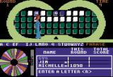 Wheel of Fortune Apple II The hostess walks across the game board to flip a square