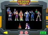 Rescue Heroes: Meteor Madness Windows The player can display any of the Rescue Heroes via a button on the bottom of the command centre screen