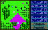 Record of Lodoss War II: Goshiki no Maryū PC-98 A fight in a forest. Moving and targeting