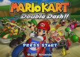 Mario Kart: Double Dash!! GameCube Title screen.