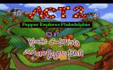 Pepper's Adventures in Time DOS Act 2 Title