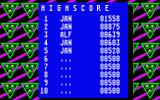 Beam Atari ST The high score table