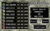 Killerball Atari ST The standings so far