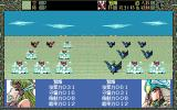 Shangrlia PC-98 This is a battle of birds! In an open field, enemy's giant birds defeat ours...
